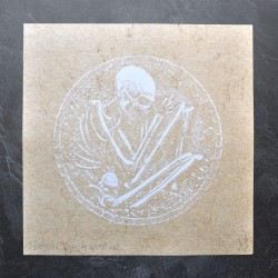 Tsjuder - Slumber With The Worm - Sand (from Antiliv) - Screen print