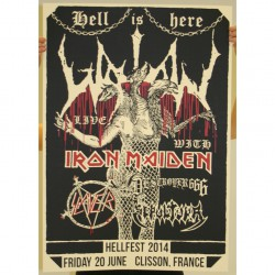 Watain - Part 4 Of 10 Of The Watain Poster Series - Screen print