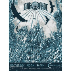 Intronaut / Entheos / Moon Tooth / Oberon - Intronaut At 89th St. Collective, OKC - Screen print