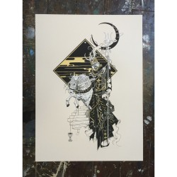 Tombstones - Black Moon Rider (from Red Skies And Dead Eyes) - Screenprint